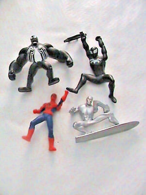 Spider-man Spiderman Related Action Figures Figurines Lot of 4