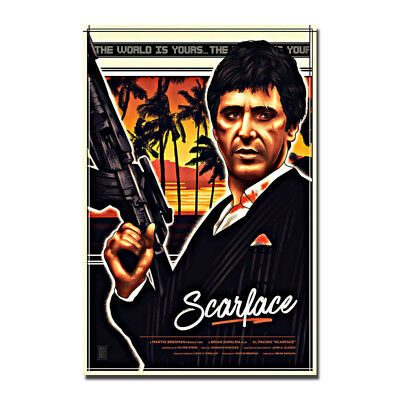 Al Pacino Tony Montana Scarface 1983 Movie Silk Canvas Poster 12x18 24x36inch