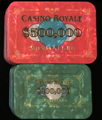 CASINO ROYALE JAMES BOND 007 POKER PLAQUE SET of 2 (Two)...Get yours NOW!