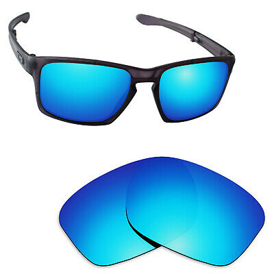 97ed78c10b Hawkry Polarized Replacement Lenses for-Oakley Sliver Sunglass Ice Blue