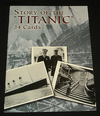 Story Of The  Titanic : 24 Postcards Cards Dover Book Unused