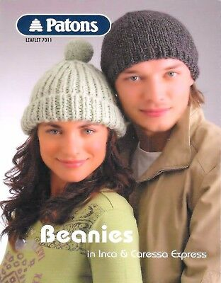 Beanies Assorted Ladies and Mens, Vintage KNITTING PATTERN-PDF 485