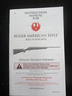 Original Firearms owner's manual Ruger American Bolt Action Rifle