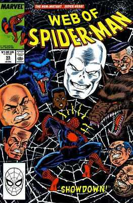 Web of Spider-Man #55 (Oct 1989, Marvel) Direct Edition - FN/VF