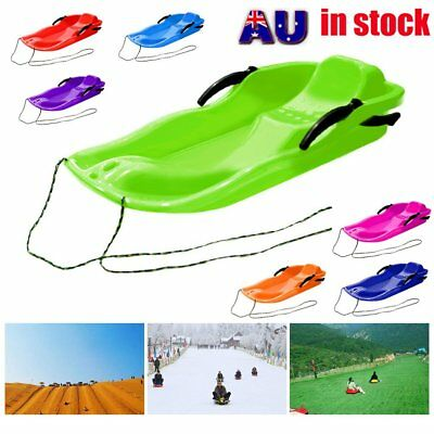 Skiing Board Sled Luge Snow Grass Sand Board Pad With Rope For Double People AU