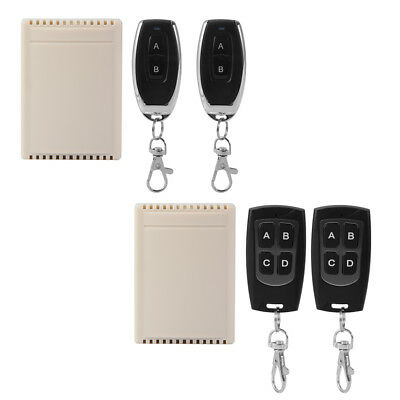 DC12V 10A Relay 2/4CH Wireless Remote Control Switch 2x Transmitter + 1xReceiver