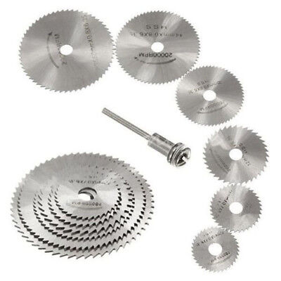7in1 HSS Circular Saw Disc Blades with Mandrel Cutting Tool Set For Rotary Tool