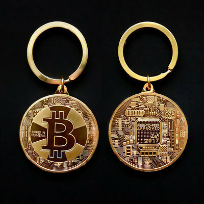 BTC BITCOIN KEYCHAIN GOLD BLOCKCHAIN LITECOIN CRYPTOCURRENCY BITTREX Coin Gifts
