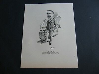 F H Manter Atchison Topeka & Santa Fe Railway .Assistant General Freight Agent