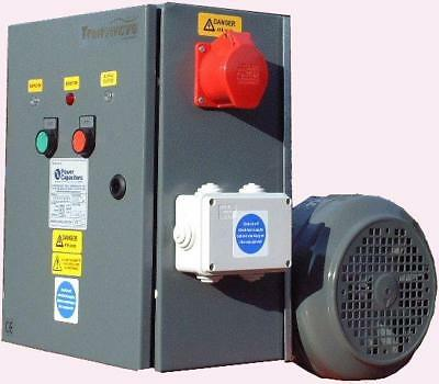 TRANSWAVE Rotary Converter RT4 - 5.5hp/4kW - Single to 3-phase 240v to 415v