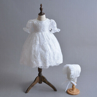 Gorgeous Baby Girl Baptism Gown Toddler Embroidery Christening Dress 3-24 Months