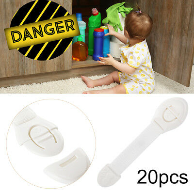 20pcs Baby Safety Lock Children Kids Security Care Protective Safe Straps FA294