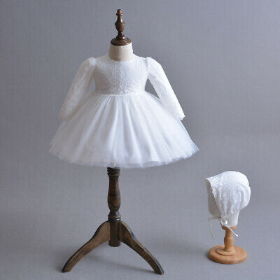 Gorgeous Embroidery Christening Gown Toddler Baby Girl Baptism Dress 3-24 Months