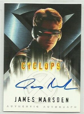 x-men Chase Card with Genuine Autograph,Signed by James Marsden as 'Cyclops