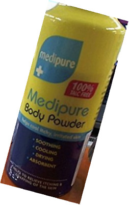 Twin Pack Medipure Medicated Body Powder 100% Talc Free 200g