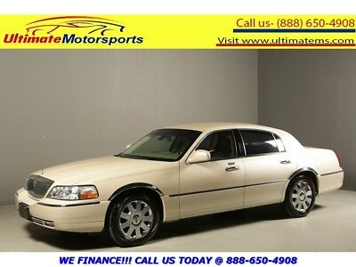 """2003 Lincoln Town Car 2003 CARTIER LEATHER HEATSEAT WOOD 17""""ALLOYS 2003 LINCOLN TOWN CAR CARTIER LEATHER HEATSEAT PWR SEATS WOOD 17""""ALLOYS WHITE"""