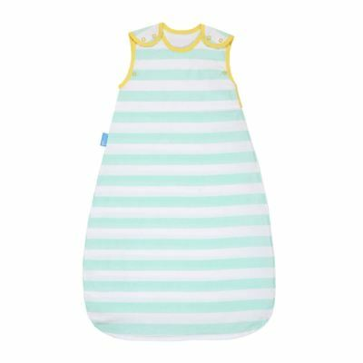 Grobag Baby Sleeping Bag - Mint Stripe Design Insect Shield - 0-6 Months 0.5 Tog