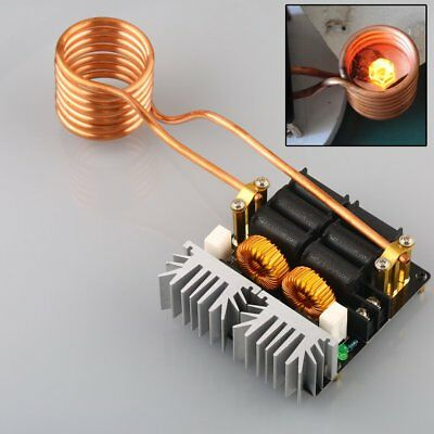 1000W 20A ZVS Low Voltage Induction Heating Board Module Hearter Coil 12-48V