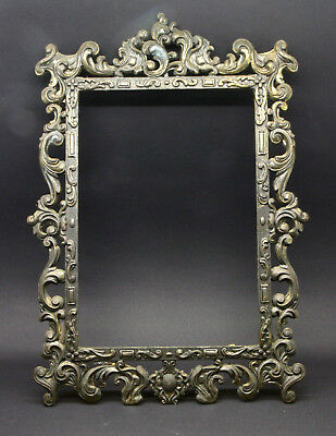 ORNATE VINTAGE ITALIAN BRASS PHOTO PICTURE FRAME Made in Italy