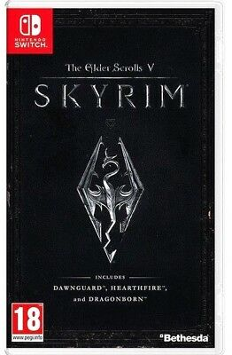 The Elder Scrolls V: Skyrim Nintendo Switch 2017 Video Game (BRAND NEW & SEALED)