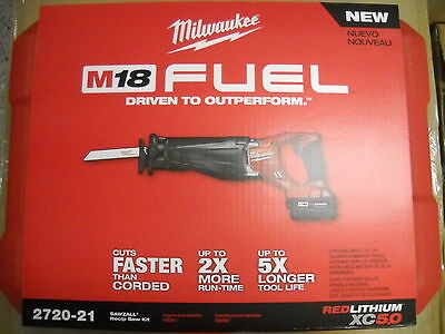 Milwaukee 2720-21 M18 FUEL Brushless Sawzall Cordless Reciprocating Saw Kit NEW