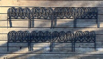 Antique Old Rustic cast Iron Garden Wall/border Salvage