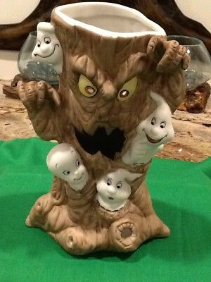 Harvey Prod Casper the Friendly Ghost Haunted Tree Tealight Candle Holder ca1986