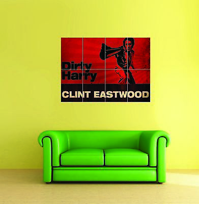 Dirty Harry Clint Eastwood Punk Giant Wall Art Print New Poster Picture
