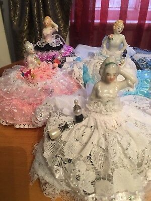 4 Pin Cushion dolls with new pretty Dress (price For One Doll)