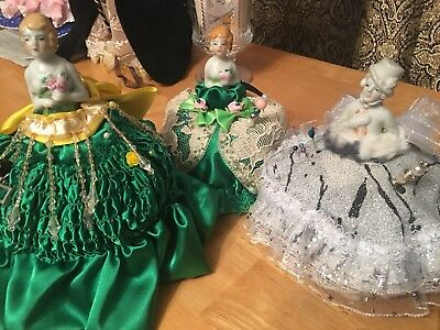 3 Different Pin Cushion dolls with new pretty Dress - price for 1 doll