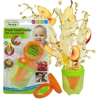 Baby Fresh Food Feeder With Easy Grip Handle Reduces Risk Of Choking, UK Seller,