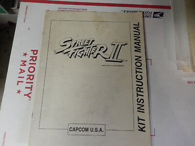 STREET FIGHTER 2 USA vintage capom arcade  game manual