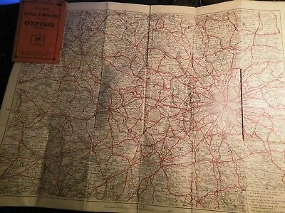 OXFORD DISTRICT To Londonbacons Antique Cycle Map 18901926