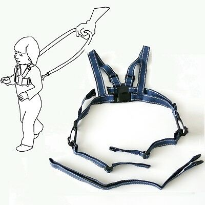 Baby Kid Toddler SAFETY HARNESS Learning To Walk Assistant Walking Reins DarkBlu