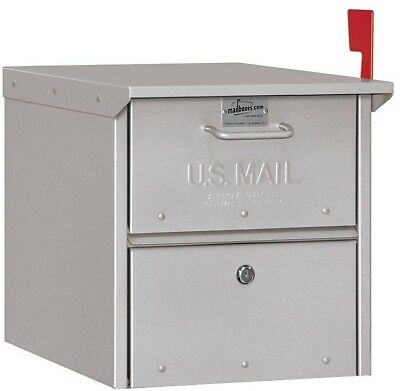 Mailbox Heavy Duty New Aluminum Post Mount Roadside Letter Box Large Locking