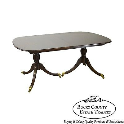 """Harden 132"""" Solid Cherry Duncan Phyfe Expandable Dining Table"""