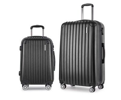 Set of 2 Hard Shell Travel Luggage with TSA Lock
