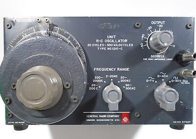 General Radio Unit R-C Oscillator Type NO 1210-C  USA