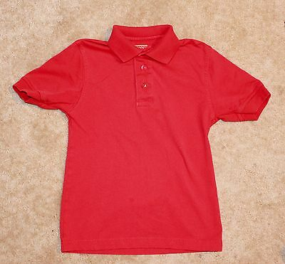 DENNIS SCHOOL UNIFORMS Youth Small POLO SHIRT (red w/ short sleeves) Perfect