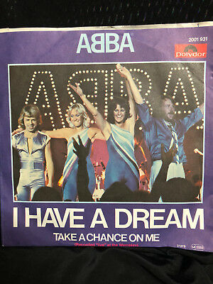 "ABBA-OOP 'Take A Chance On Me"" /I Have A Dream German Import 7"" Pic Sleeve NM"