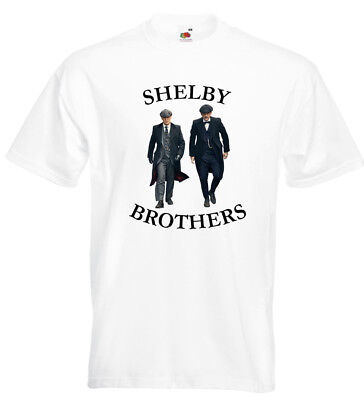 75232e62 Shelby Brothers Peaky Blinders T Shirt Cillian Murphy Tommy Arthur Shelby
