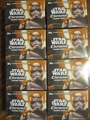 Factory Sealed 8 Box Lot - 2016 Topps Chrome Star Wars The Force Awakens Cards