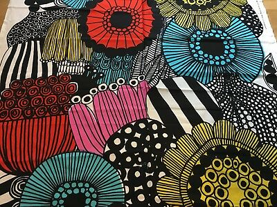 "Marimekko Fabric ""Siirtolapuutarha"" by the Yard, New,100% Cotton, Gorgeous!"
