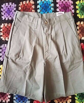 VTG 90's Dickies Men's Shorts 29 Gray Pleated Front 100% Cotton Easy Care NWT