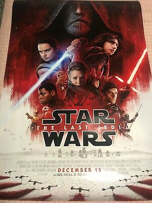 Star Wars VIII Last Jedi Final Theatrical Double Sided DS Poster 27x40 A