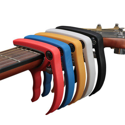 Plastic Guitar Capo Quick Change Clamp Key for Acoustic Electric Guitarra Tuning