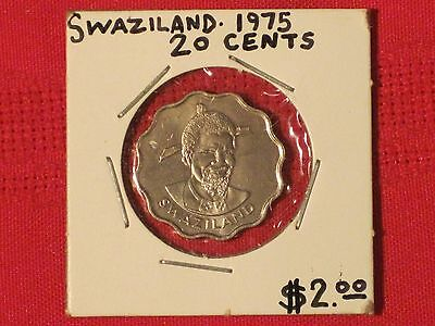 *** 1975  20 Cents / Swaziland - Excellent example!  KM# 11