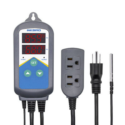 Inkbird Digital Pre-wired Temperature Controller ITC-306T Timer Control Heating