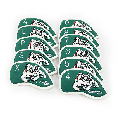New 11PCS Green Golf Tiger Dog Iron Club Covers for Callaway Taylormade Titleist