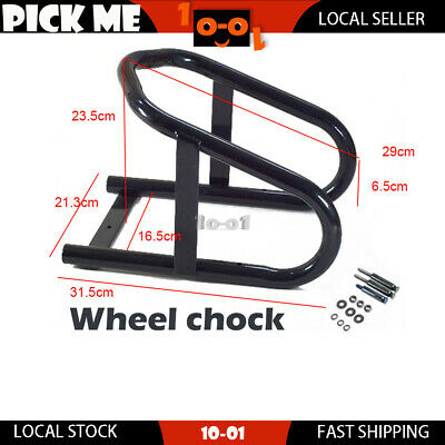 Motorcycle Wheel Chock Stand Support Fit Up To 16.5cm Wide Road Dirt Bike Tyre